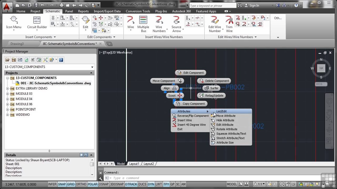 maxresdefault autodesk autocad electrical 2014 tutorial schematic symbols and autocad wiring diagram tutorial at bayanpartner.co