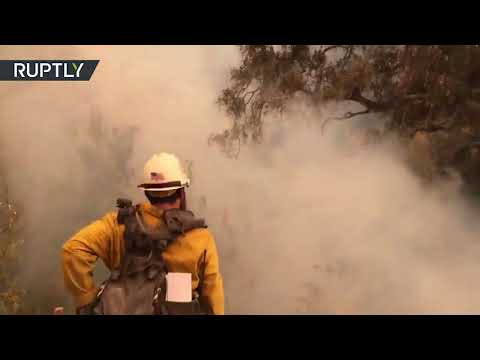 USA: Firefighters successfully contain huge wildfire in California