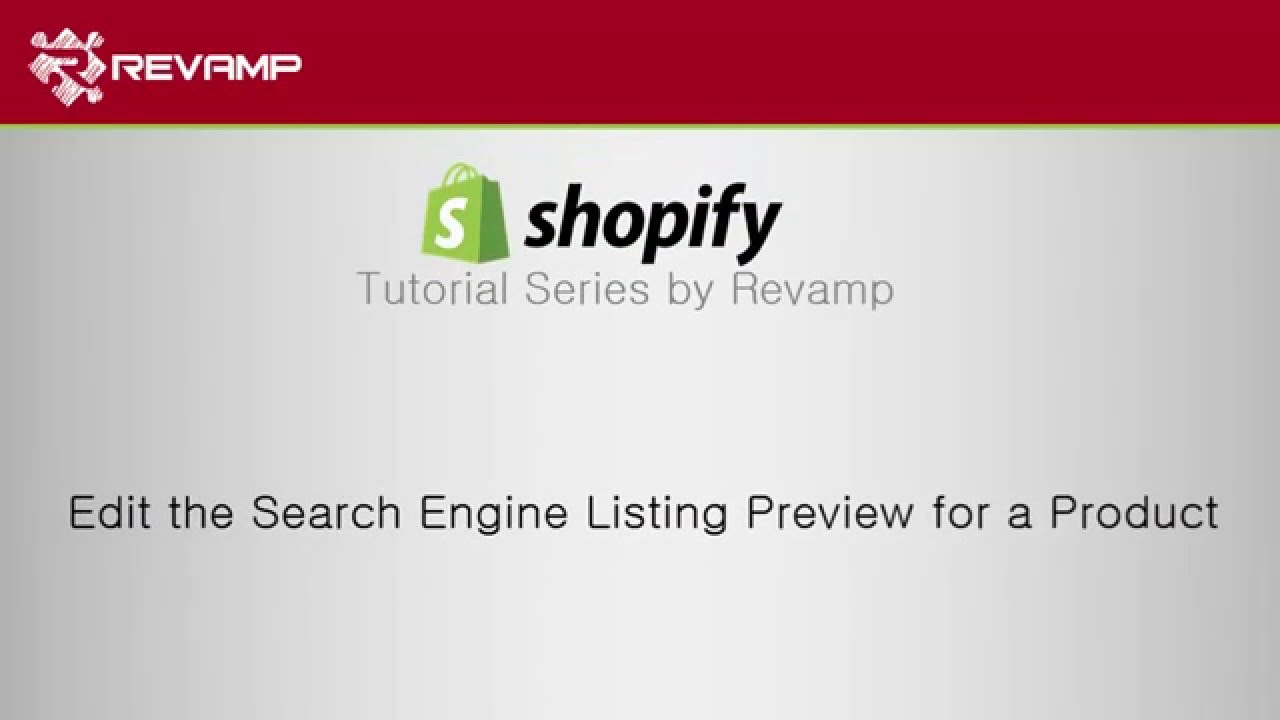 Search for a product by - How To Edit The Search Engine Listing Preview For A Product In Shopify