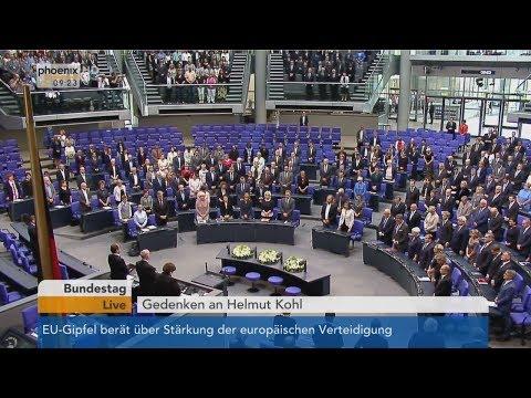 Bundestag: Gedenken an Helmut Kohl am 22.06.2017
