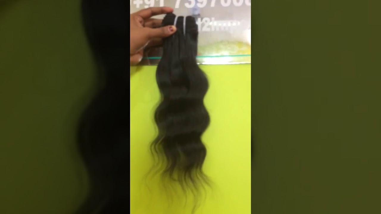 Raw Virgin Hair Wholesale Indian Hair Vendors In India Youtube