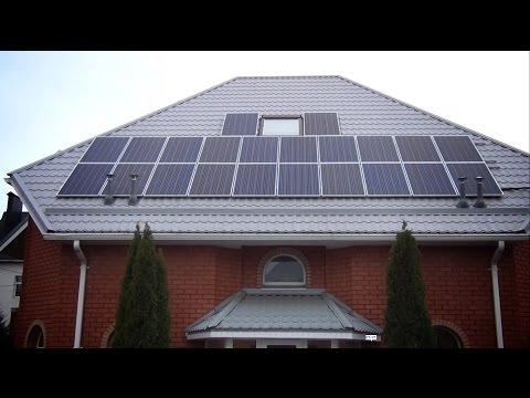 Монтаж сетевой солнечной электростанции 15 кВт