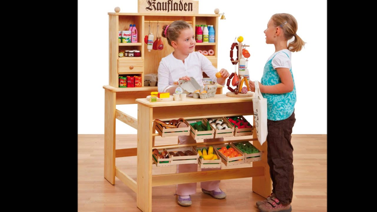 holzspielzeug meurer kinder kaufladen deluxe youtube. Black Bedroom Furniture Sets. Home Design Ideas