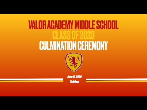 2019-2020 Valor Academy Middle School 8th Grade Culmination