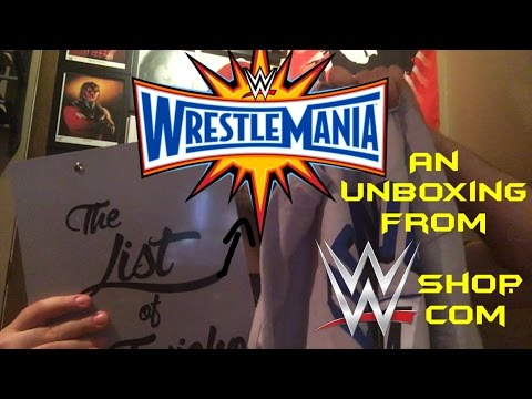 An Unboxing Video:The List Of WrestleMania!