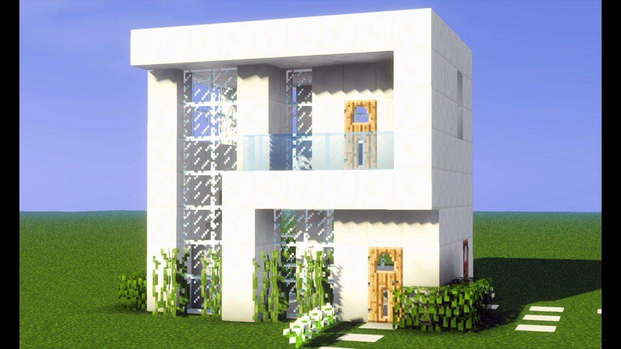 Minecraft tutorial pequena casa moderna de quartzo para for Casa moderna y pequena en minecraft