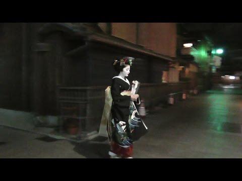 京都 夜の宮川町~建仁寺~祇園を散策 (1) Let's take a walk through the red-light district of Kyoto at night.