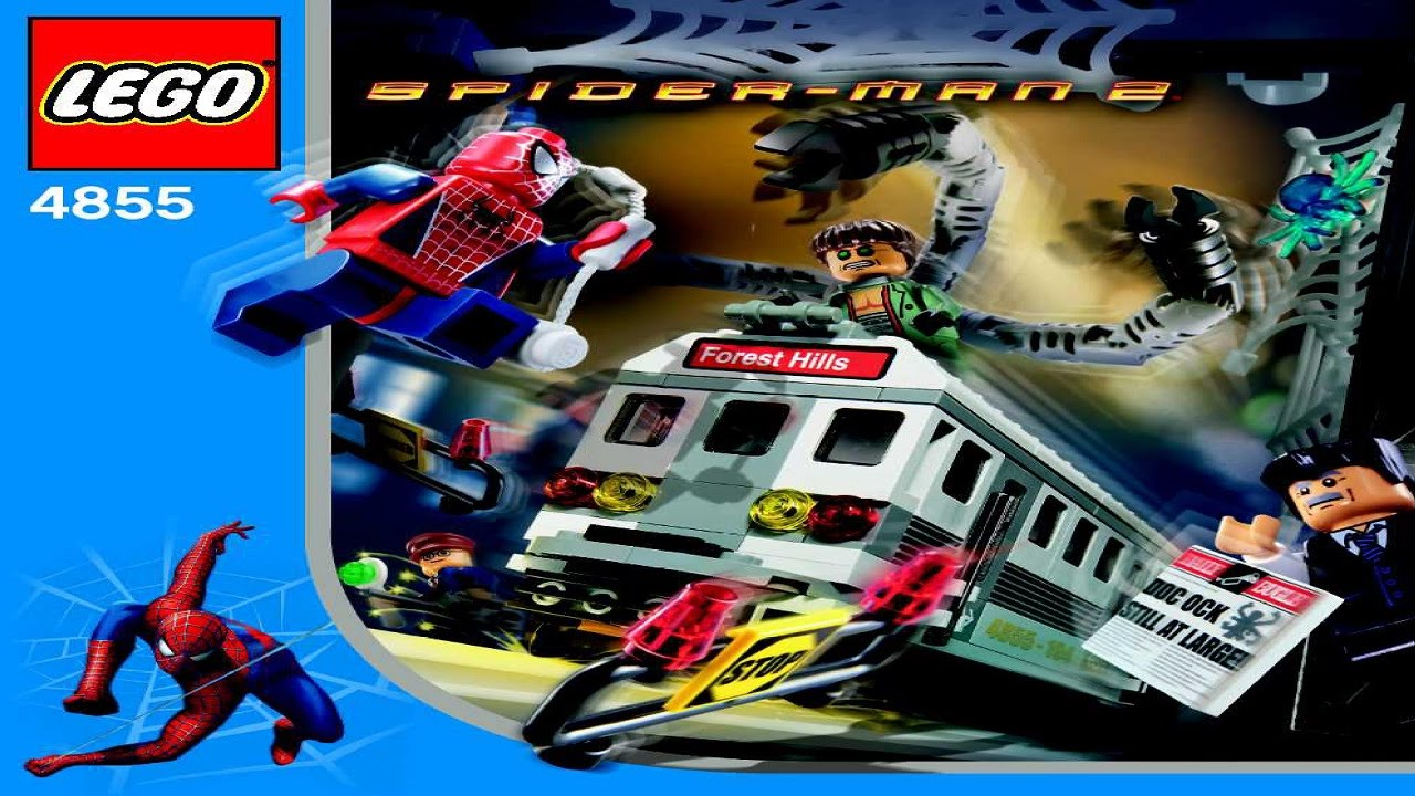 4855 lego spiderman spider man 39 s train rescue instruction booklet youtube - Lego spiderman 2 ...