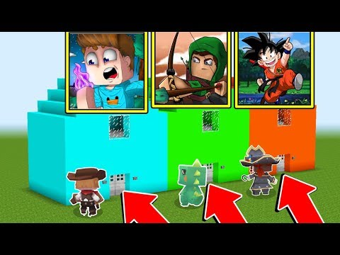 CASA BETO VS CASA ROBIN HOOD VS CASA HEYDAVI DO MINI WORLD!