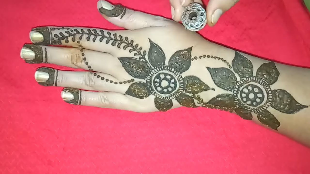Trending Mehndi Designs 50 Latest Henna Tattoo Ideas For 2018: Trending 2018 Big Flower Arabic Mehndi Design
