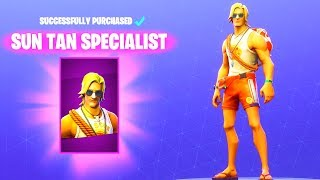 *NEW* SUN TAN SPECIALIST SKIN! (Item Shop) Fortnite Battle Royale