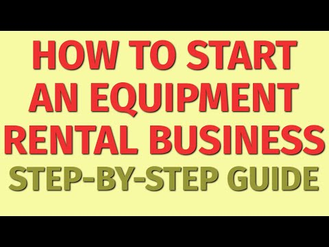 Starting a Equipment Rental Business Guide   How to Start a Equipment Rental Business   Ideas