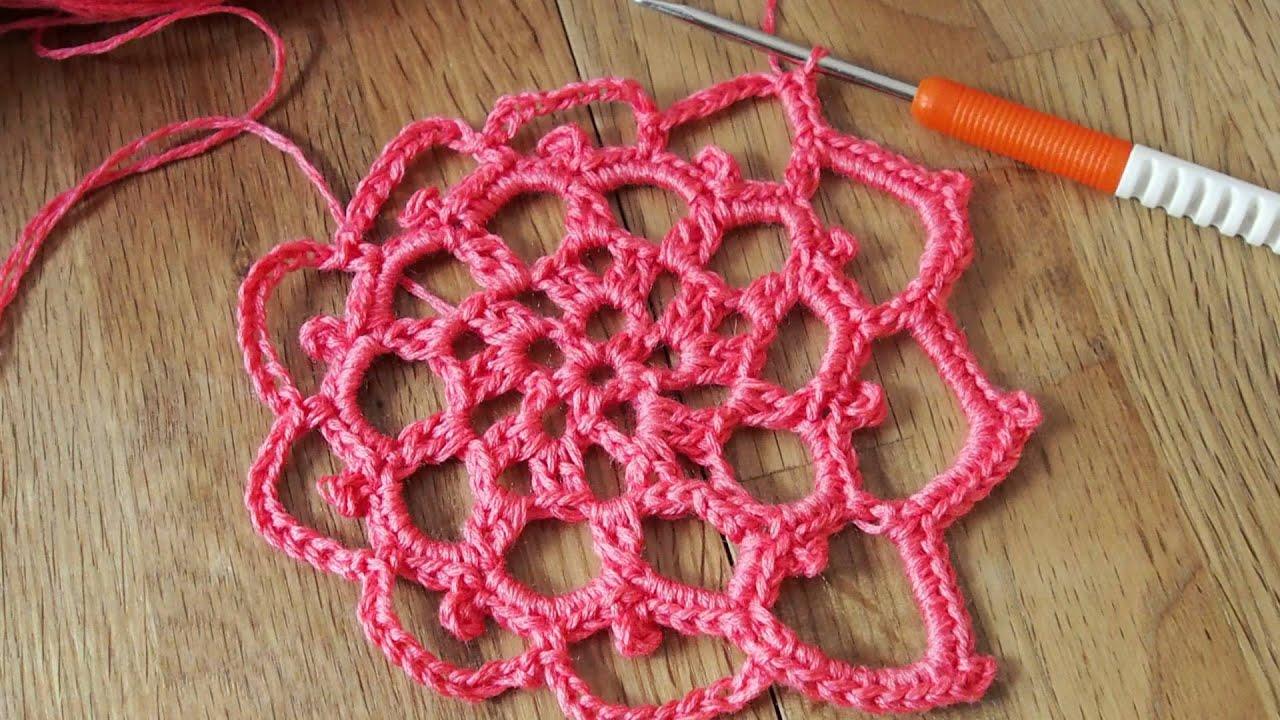 Crochet with LANDDERFEEN - Vierecke und Sterne häkeln - Tutorial 1 ...