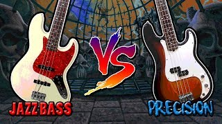 Bass Battle — Fender Jazz Bass VS Fender Precision [at guitarbank store]