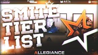 Smite Tier List With ALG Weak3n! - 3/28