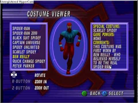 spiderman n64 costumes youtube