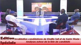 Présidentielle 2019 : Invalidation candidatures de Khalifa Sall et de Karim Wade