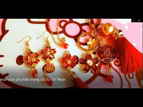 Handmade phụ kiện trang sức từ UV Resin