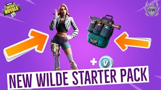HOW TO GET WILDE STARTER PACK 7 IN FORTNITE BATTLE ROYALE & SHOWCASE & GAMEPLAY!