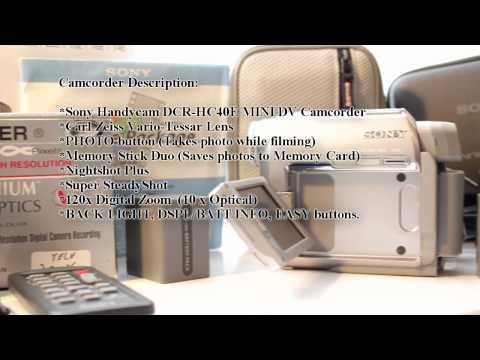 Sony Handycam  DCR-HC40E MINI DV Camcorder (for sale)