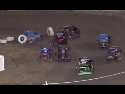 Santa Maria Speedway Simkins Memorial Jr Mini Dwarf Main 9-1-13