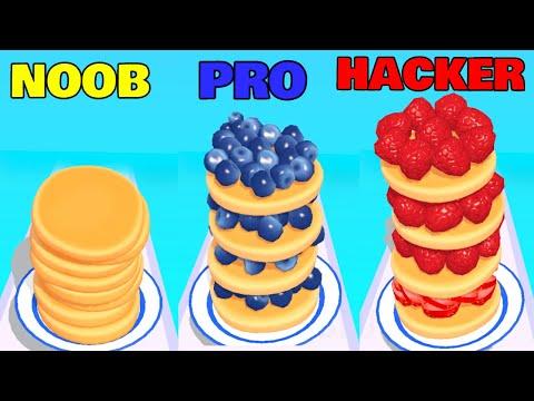 NOOB vs PRO vs HACKER in Pancake Run