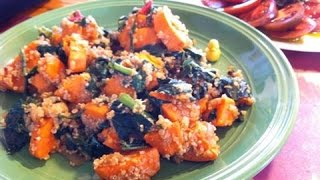 Quinoa With Kale And Sweet Potatoes - Recipe Video!