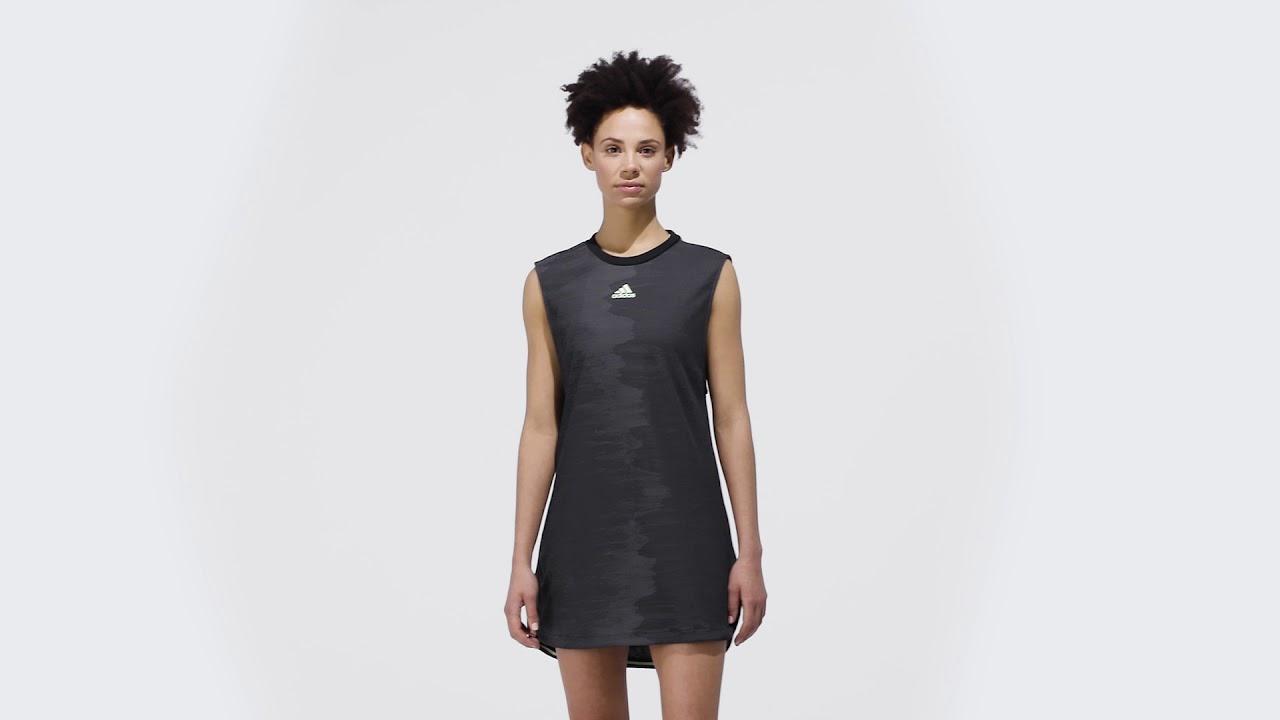 Damen Kleid adidas NY Dress BlackGreen |