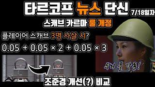 스캐브 카르마 잠수함 패치 룰 개정 | 조준경 패치 비…