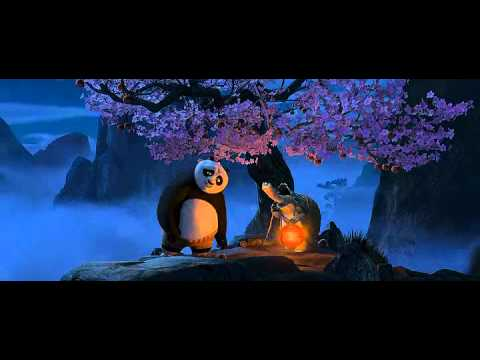 kung fu panda at a peach tree