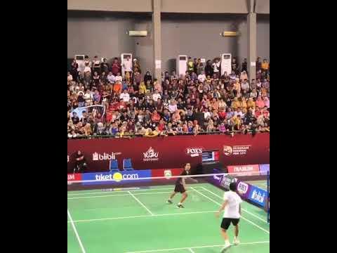 Jojo vs ginting PBSI friendly match palembang