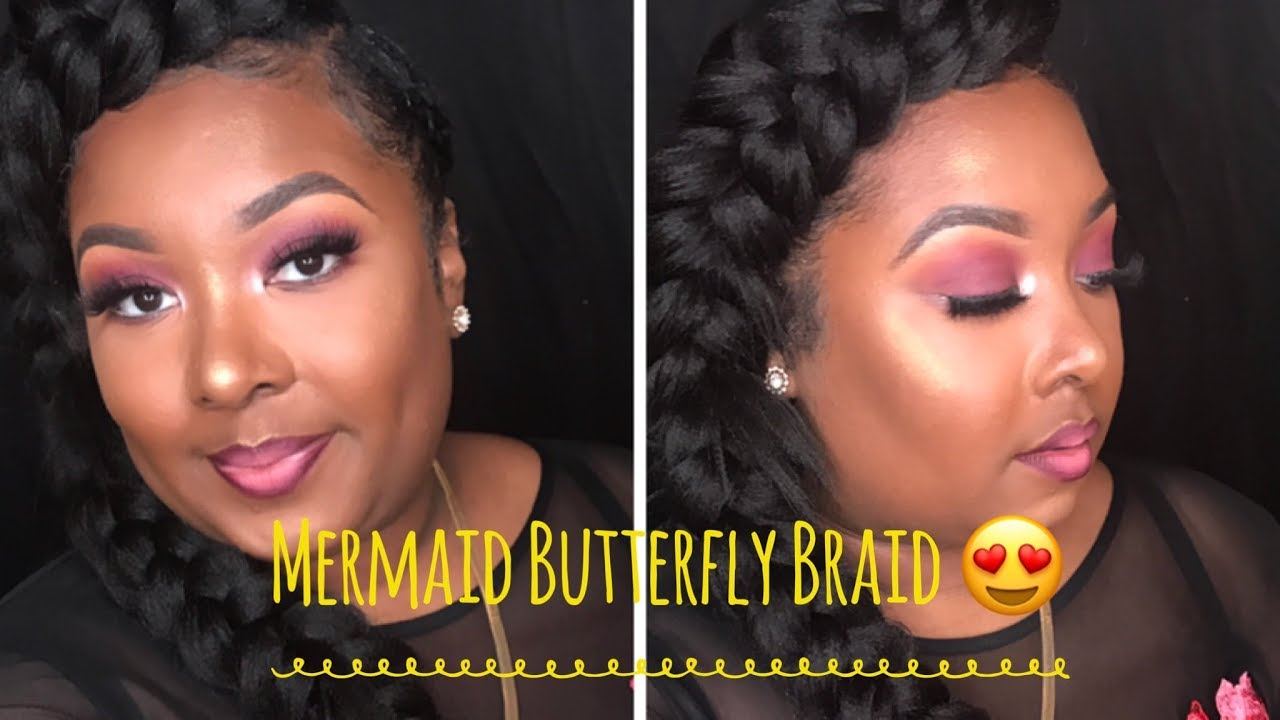 Mermaid Butterfly Braid Tutorial - YouTube