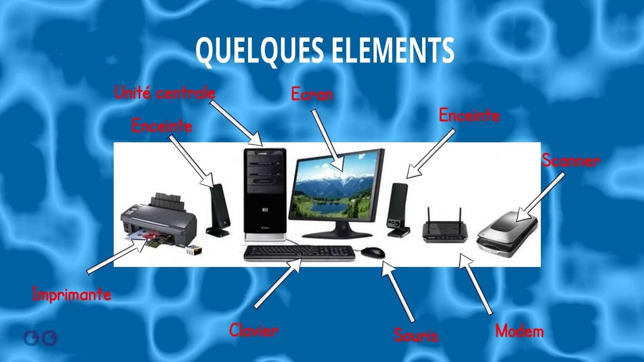 technologie les diff rents l ments d 39 un ordinateur de bureau youtube. Black Bedroom Furniture Sets. Home Design Ideas