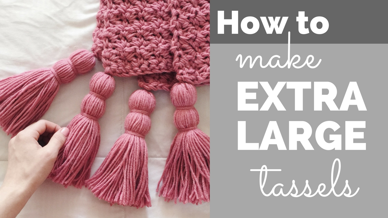 How to Make Extra Large Tassels for a Blanket  YouTube