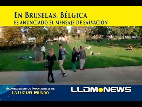 En Bruselas, Bélgica es anunciado el mensaje de salvación.