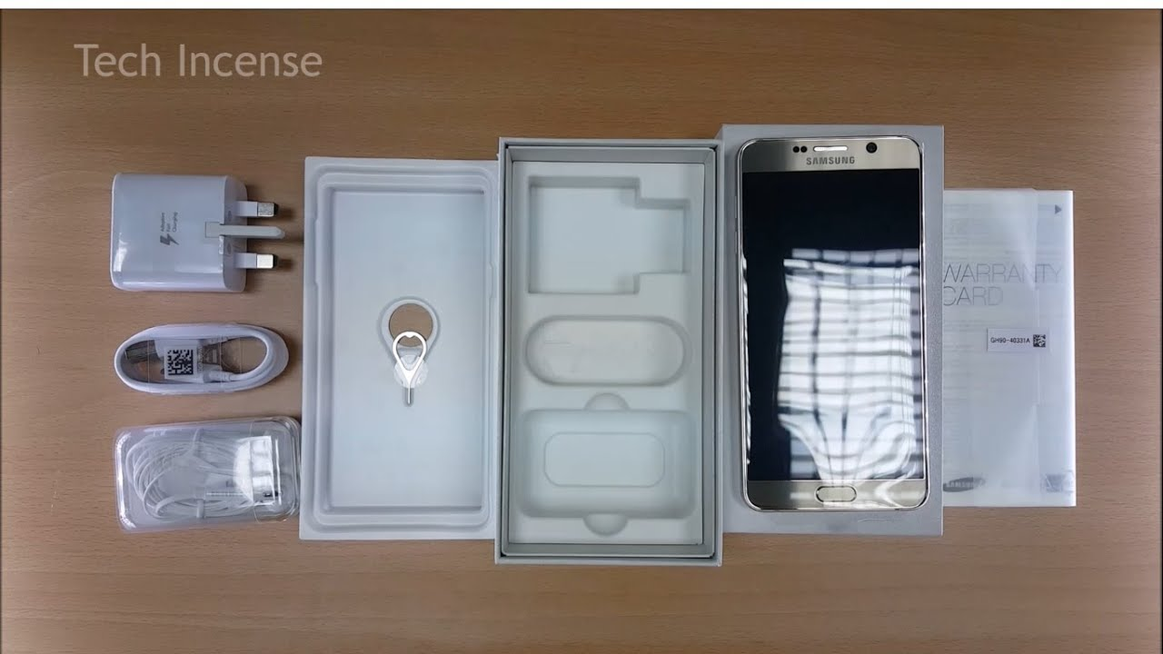 Samsung GALAXY Note5 - Unboxing (Gold Platinum)