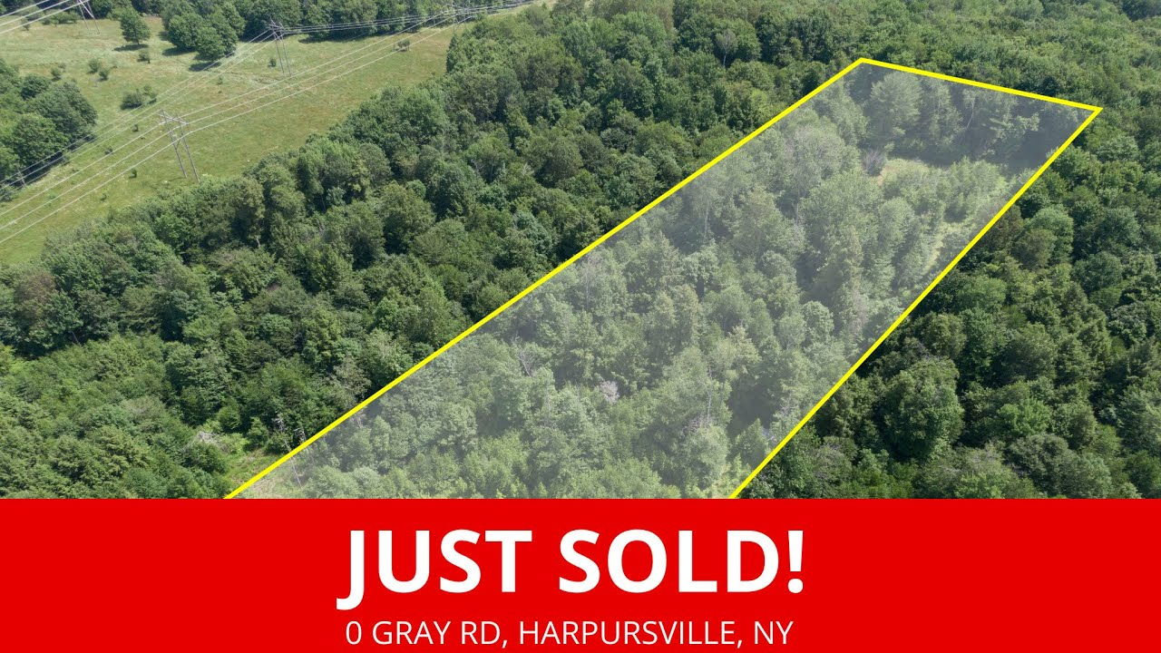 Just Sold by www.WeSellNewYorkLand.com - 0 Gray Rd, Harpursville, New York - New York Land For Sale
