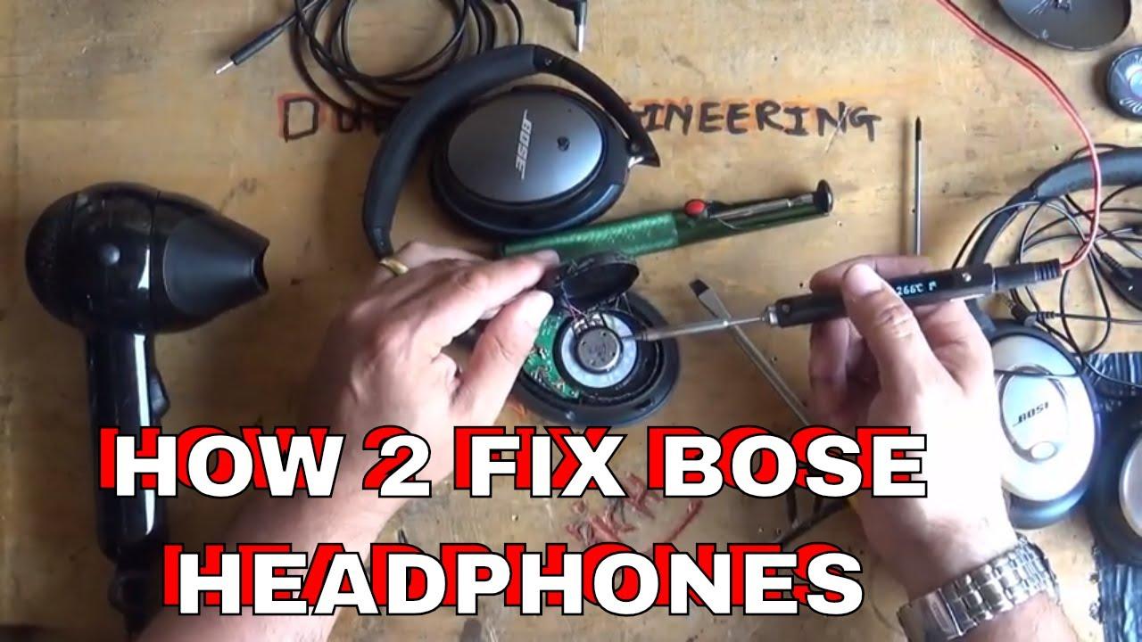 ebb9dd24928 DuB-EnG: Repair BOSE QC35 QC25 QC15 Quality Headphones Fix Faulty Quality  Problems One Speaker Work