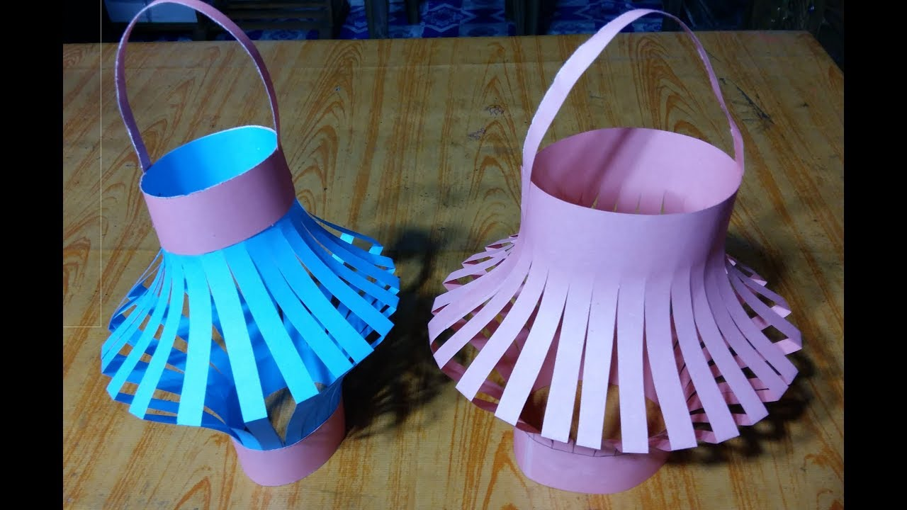 how to make flower pot using paper origami amazing flower pot using paper craft youtube. Black Bedroom Furniture Sets. Home Design Ideas