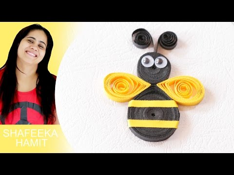 How to make paper quilling honey bee