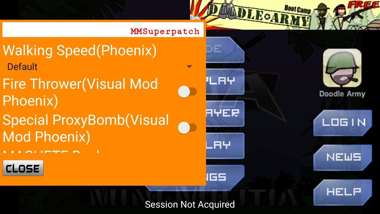 Mm super patcher v1.8 for mini militia V4.0.36 - YouTube