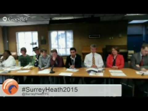 Young Person Question Time #SurreyHeath2015