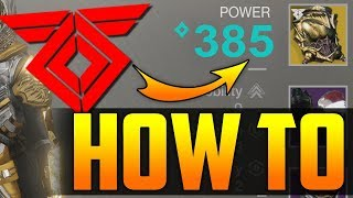 Destiny 2 Warmind - Fastest Way To Level Up Past 345 EASY! - 345 / 385 - Simple Guide