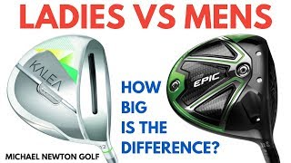 Mens Driver VS Ladies Driver Test - How Big Is The Difference?