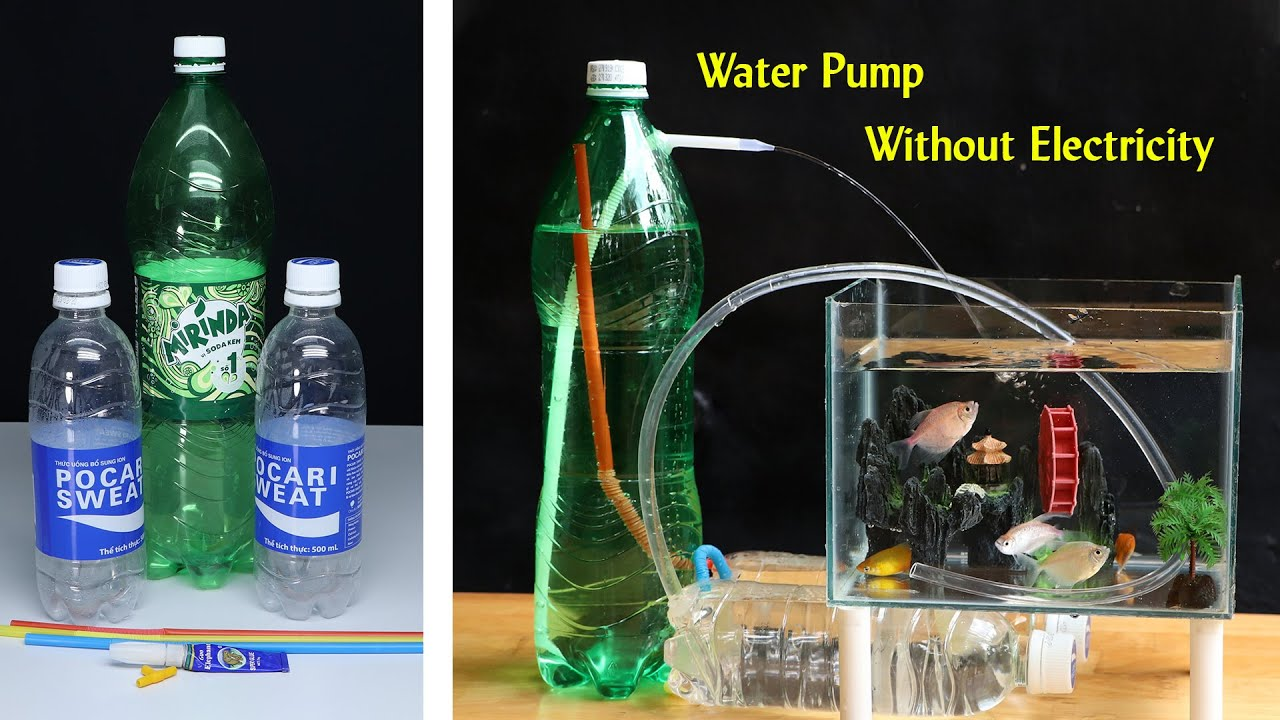 How to make Water Pump at Home - Water Pump Without Electricity, Free Energy
