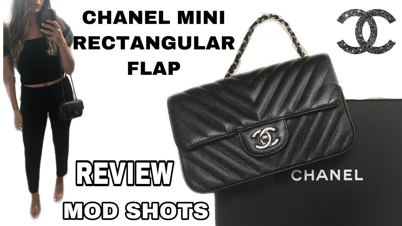 cf9f2f6e03f957 Chanel Rectangular Chevron Mini Black Iridescent Caviar - YouTube