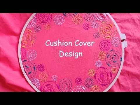 Hand Embroidery Cushion Cover Design Tutorial #5 by Rup Handicraft thumbnail