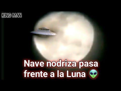 Nave Nodriza es grabada desde Brasil en el preciso momento en que pasa frente a la Luna ?