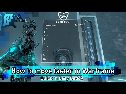 How to move faster in Warframe