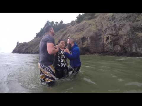 Jan 1st Baptisms 2017 in the PNW Ocean!